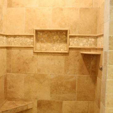 Tile work in Shower Bath Remodel