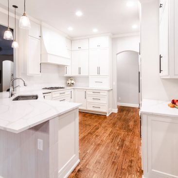 Kitchen Remodel with island open to living room
