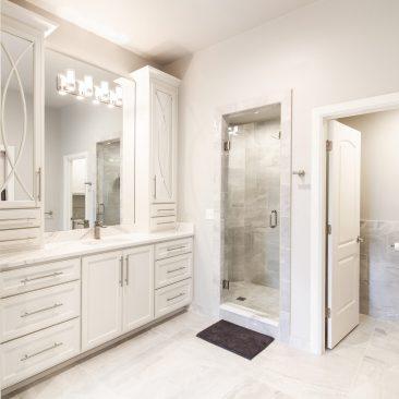 Master Bathroom Home Remodel - tiled shower