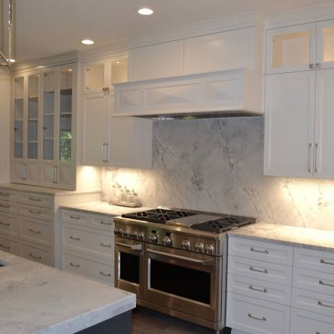 Kitchen remodel - white cabinets, stainless steel appliances