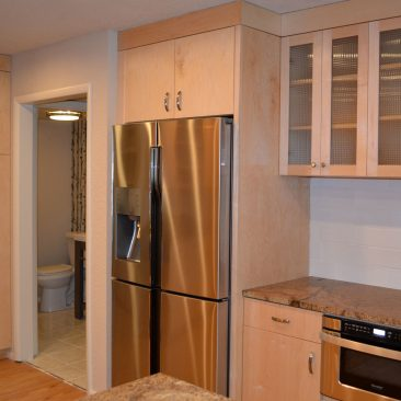 Kitchen Remodel with stainless steel appliances
