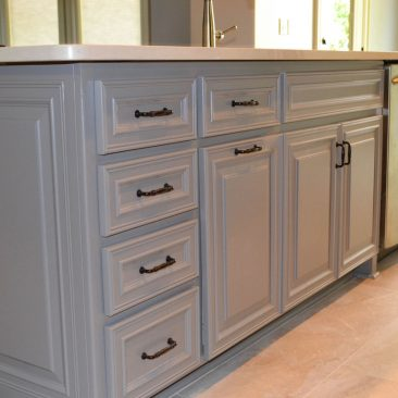 Kitchen Remodel Gray Painted Island with Sink