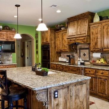 New Home Construction and Design - Kitchen cabinets and tile