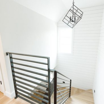 Staircase with Metal Railings