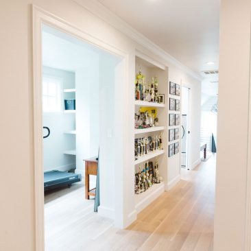 Hallway with Built-In Bookcases