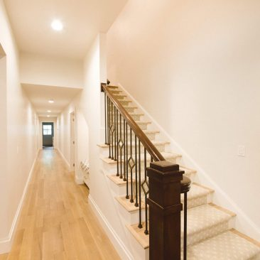 Home Entryway with Stairway Remodel