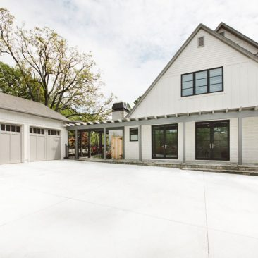 Home Exterior Remodel with covered walkway and detached garage