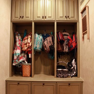 Laundry Room Remodel with mudroom storage