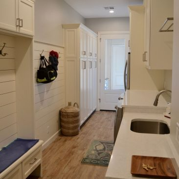 Laundry Room or mudroom addition with lockers