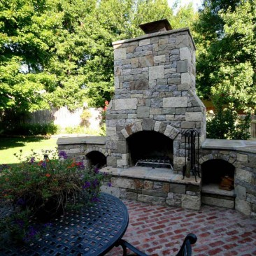 Outdoor Living Patio with fireplace