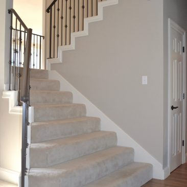 Stair remodel - new metal railing