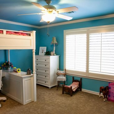 Kids Bedroom Remodel with blue walls
