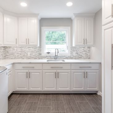 New Laundry Room - Home Addition with extensive storage, gray & white