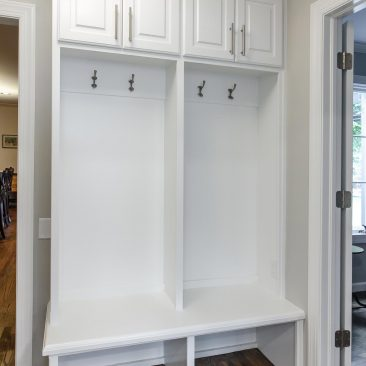 Mudroom Lockers - Home Addition - in white