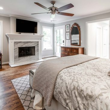 Master Bedroom - Home Addition with fireplace