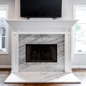 Master Bedroom - Home Addition - fireplace